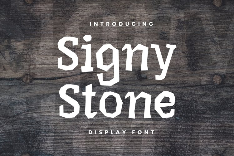 Signy Stone Font example image 1