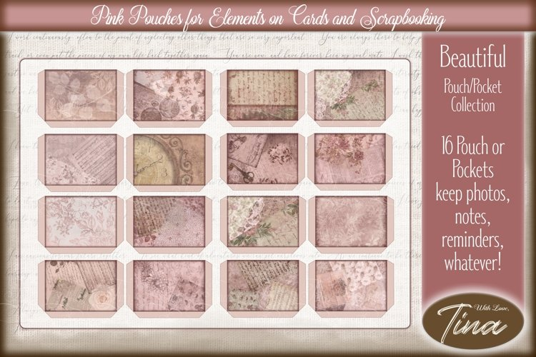 Pink Steampunk Floral Pouches Notes Collection