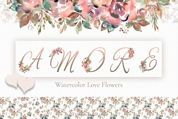 Watercolor Floral Collection - AMORE