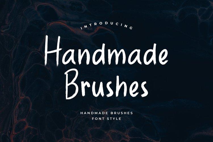 Handmade Brushes Font example image 1