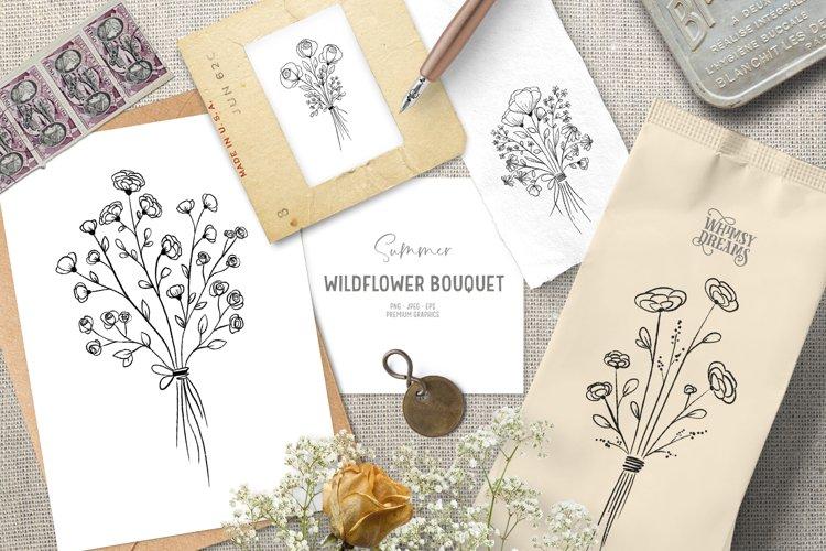 Flower boho clipart | Bohemian digital stamps