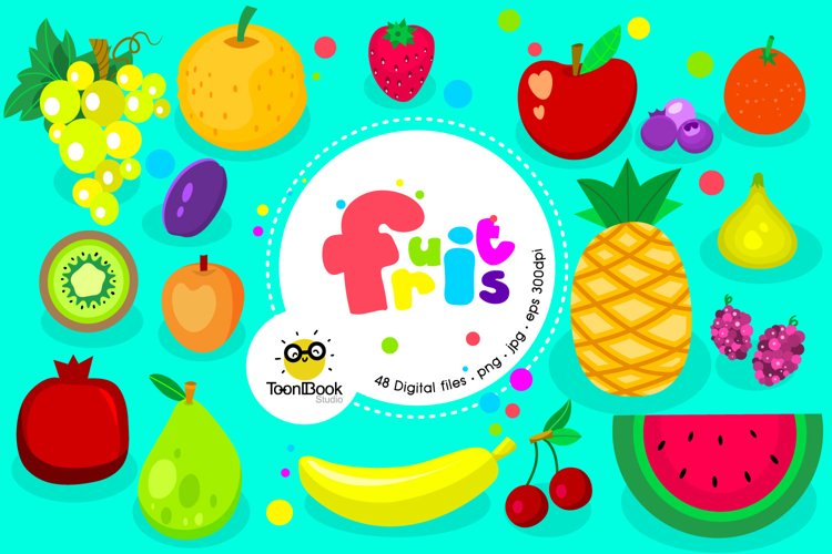 Fruits and Smoothies Clipart example image 1