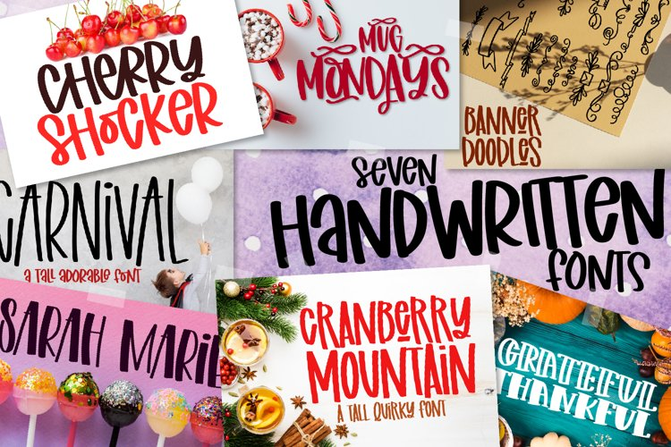 Seven Handwritten Fonts - A Fontastic Bundle!