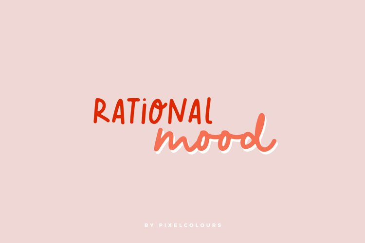 Rational Mood Font and Extras example image 1