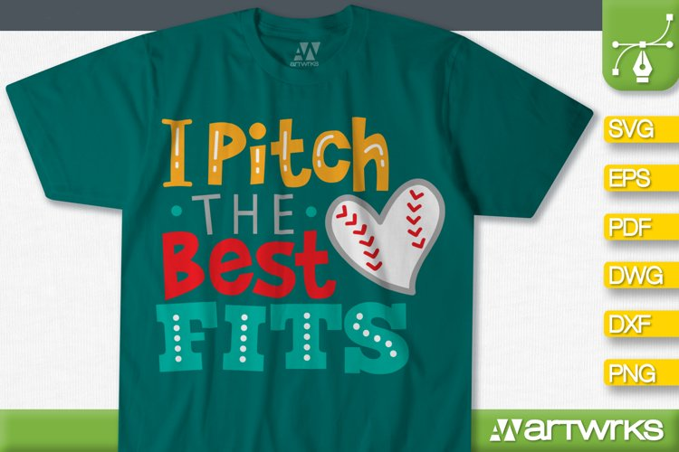 Baseball Mom Svg Files For Cricut I Pitch The Best Fits 536104 Cut Files Design Bundles