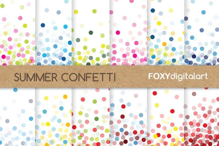 Confetti digital paper scrapbook diy wedding invitations example image 1