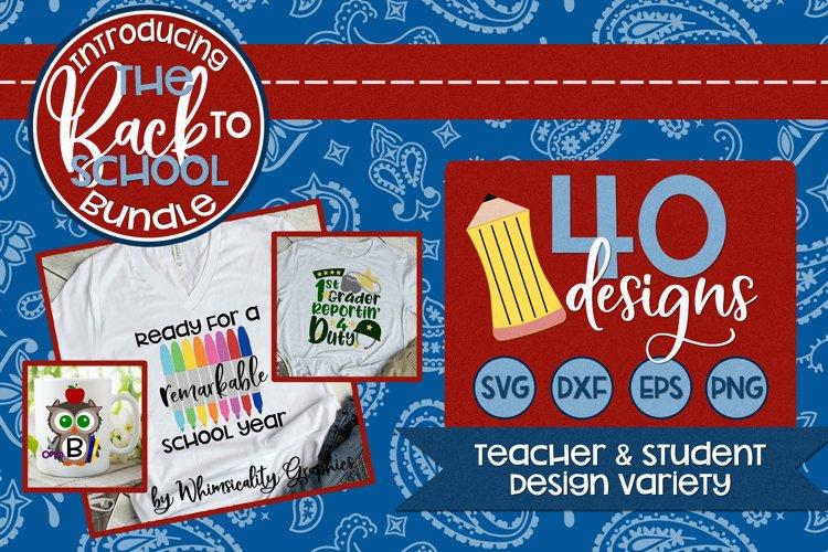 Back to School Bundle 40 Designs SVG DXF EPS PNG