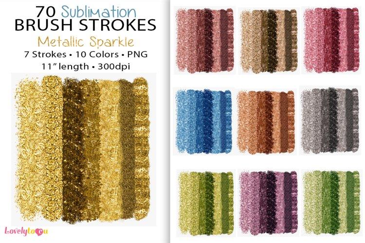 Metallic brush stroke, sublimation background, PNG bundle