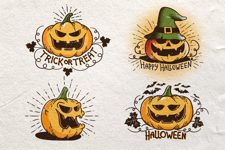 Halloween Retro Pumpkins example image 1