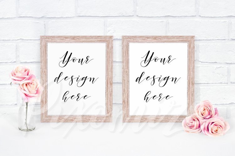 Frame Mockup with Two Frames