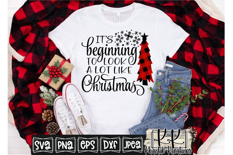 It's Beginning to look a lot like Christmas Svg, Christmas example image 1