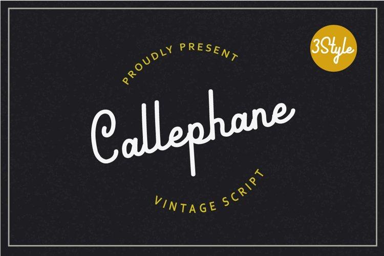 Callephane Retro Script example image 1
