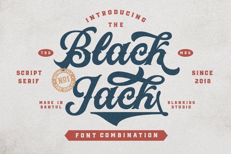Black Jack Font Combination example image 1