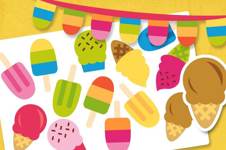 Summer ice cream illustrations