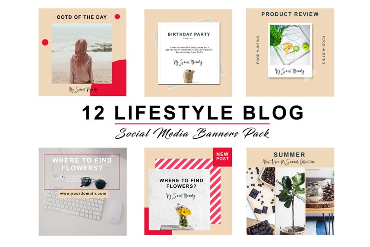 FREE  Peach Lifestyle Social Pack example