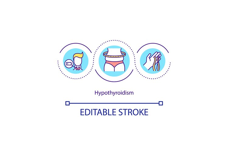 Hypothyroidism concept icon