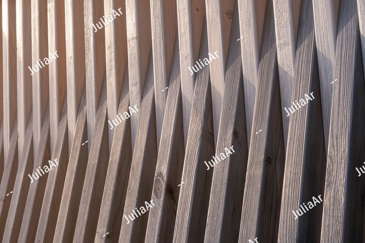 Wooden planks with orange sun light. Background. example image 1