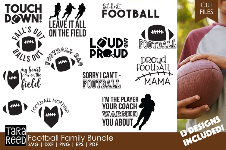 Football Family - Football SVG and Cut Files for Crafters example image 1