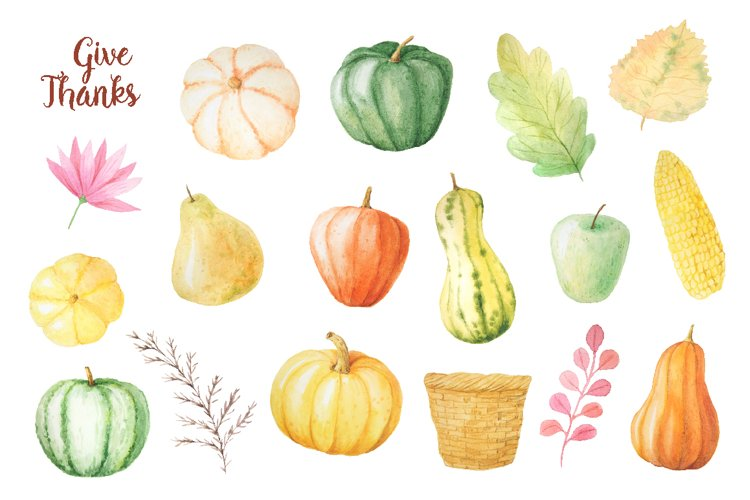 Watercolor Thanks Giving example 2