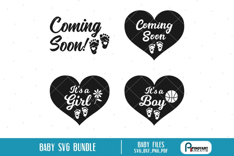 baby svg, baby svg file, it's a girl svg, it's a boy svg example image 1