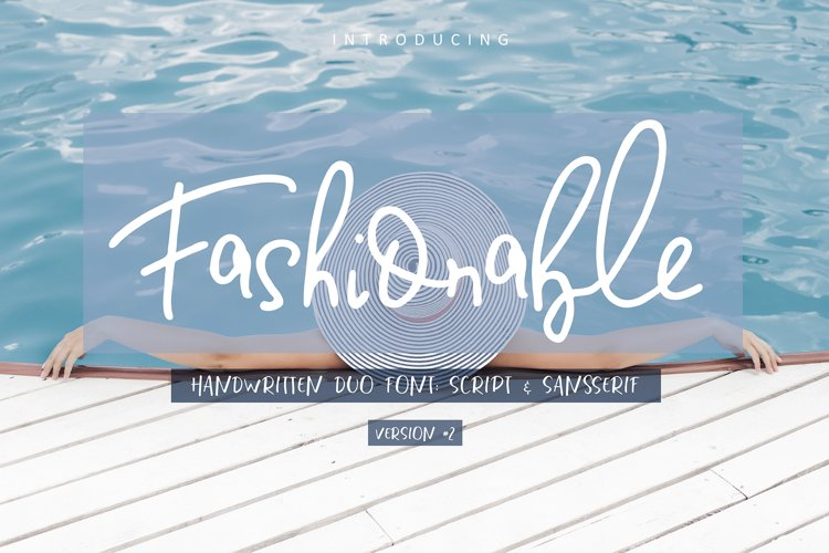 Fashionable Duo Font. Vers.#2 example image 1