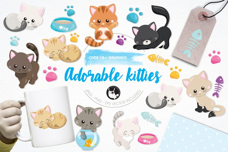 Adorable Kitties graphics and illustrations