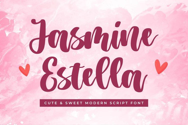 Cute Script Font - Jasmine Estella example image 1