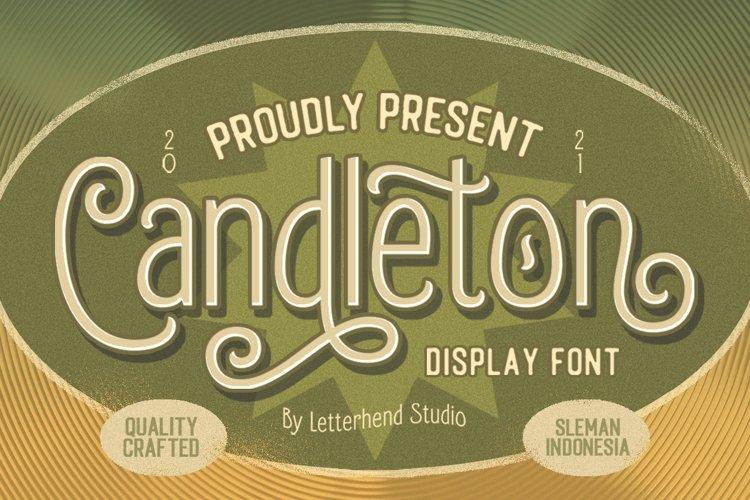 Candleton - Display Font example image 1