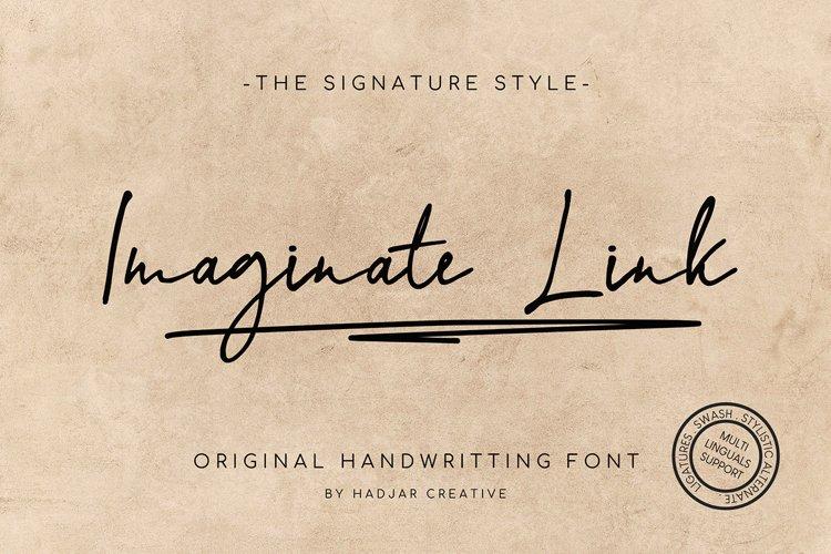 Imaginate Link - Handwritten Signature Font