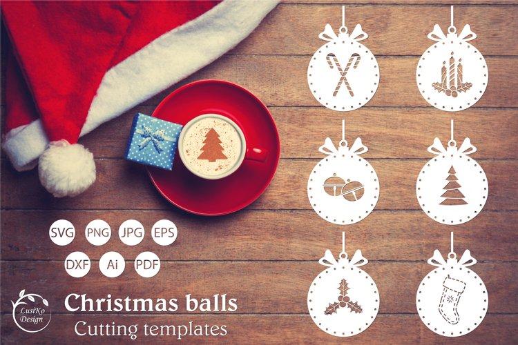 Christmas ball svg, Christmas Ornament SVG Bundle example image 1