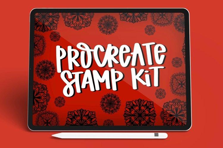 Mandala Stamp Kit - 4 Procreate Stamps example image 1