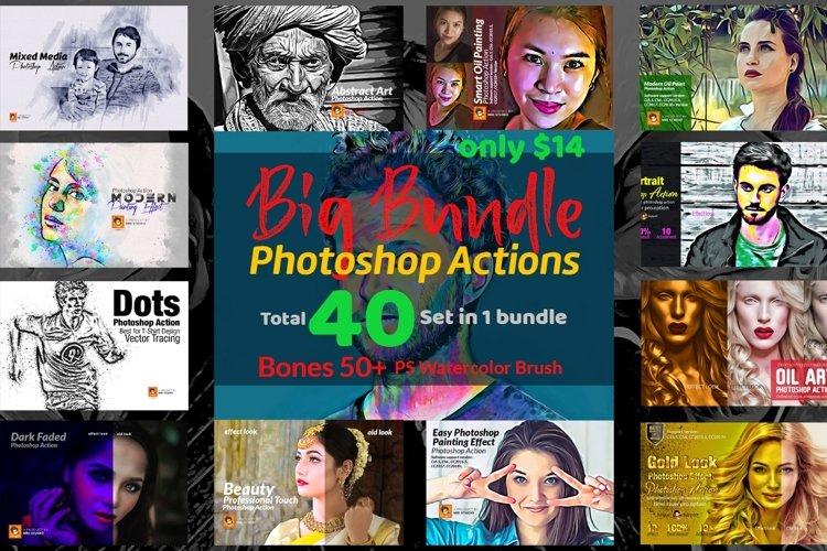 Photoshop Actions Big Bundle example image 1