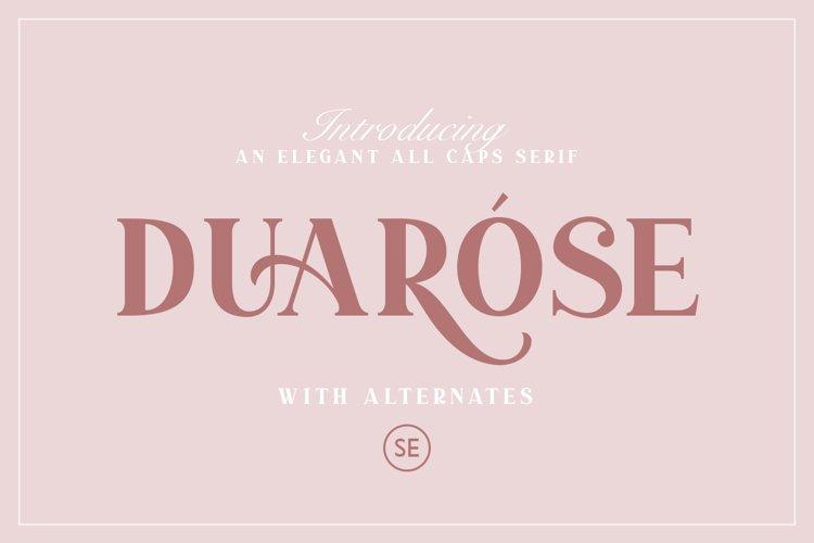 Duarose - An Elegant Serif example image 1