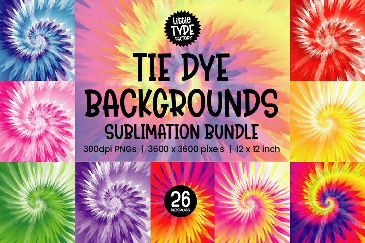 TIE DYE BACKGROUNDS | Digital Paper Bundle