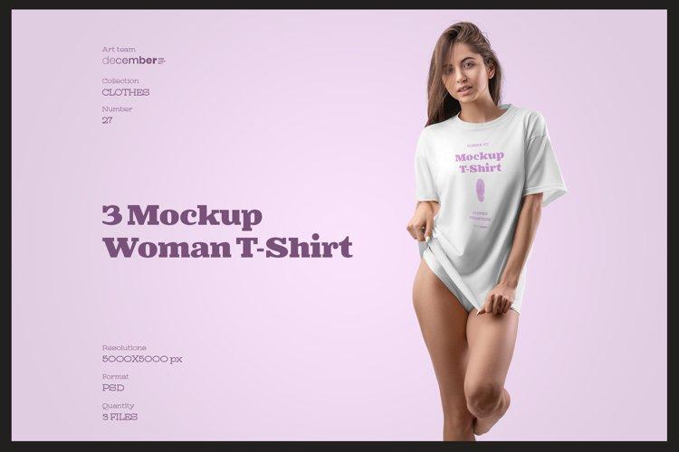 3 Mockups Woman T-Shirt Oversize