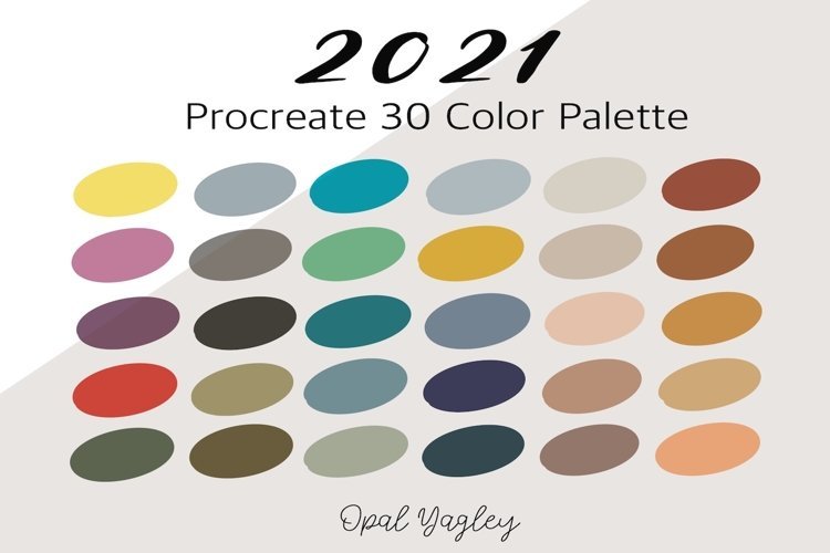 2021 Procreate Color Palette - Color of the Year