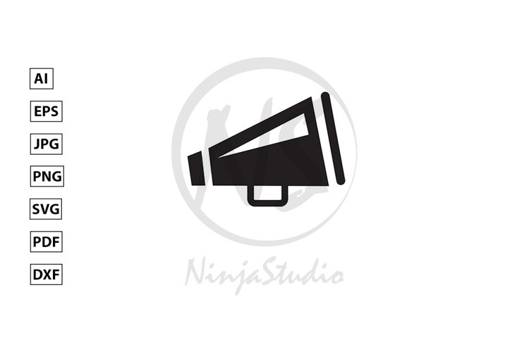 Megaphone Icon In Flat Style Vector example image 1