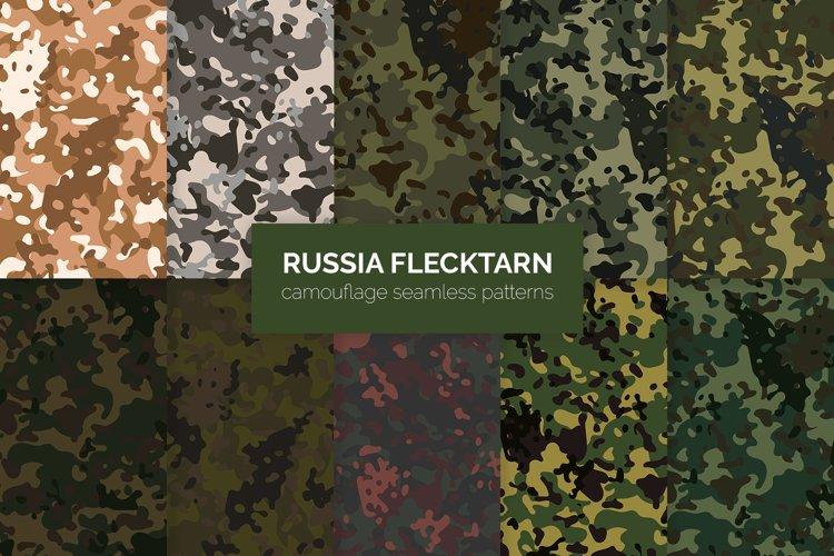 Russia Flecktarn Camouflage Patterns example image 1
