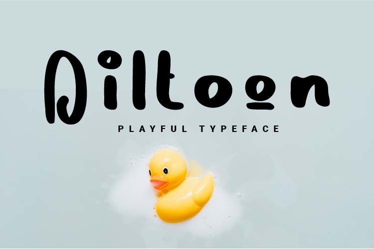 Diltoon Playful Typeface example image 1