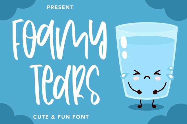 Web Font FoamyTears - Cute & Fun Font example image 1