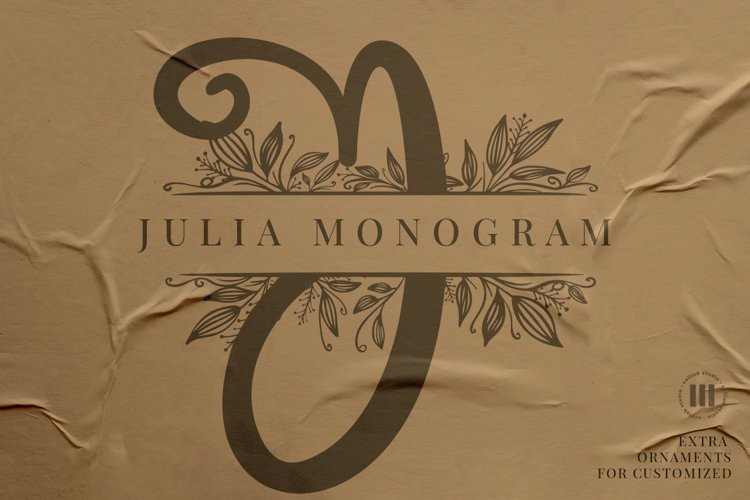 Julia Monogram Font
