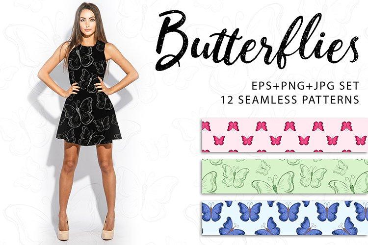 Butterflies. JPG, EPS, PNG.