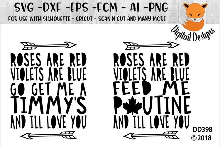Funny Canadian Valentine Poutine Timmy's SVG example image 1