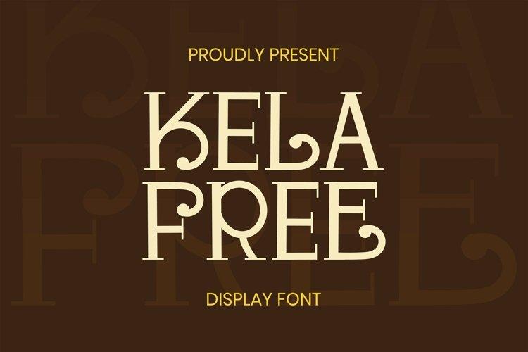 Web Font Kela Free Font example image 1