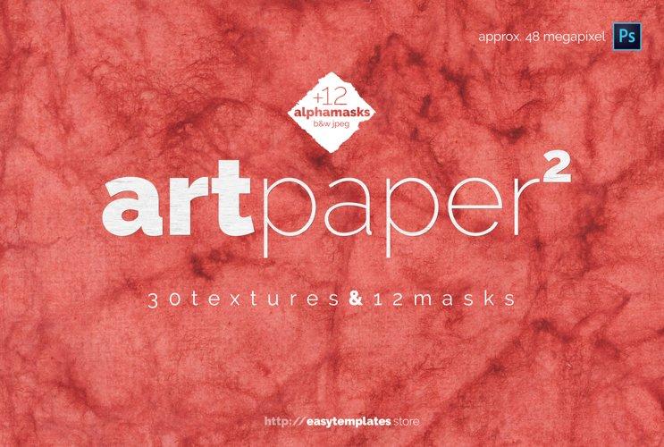 art paper vol.2 - paper textures & alpha