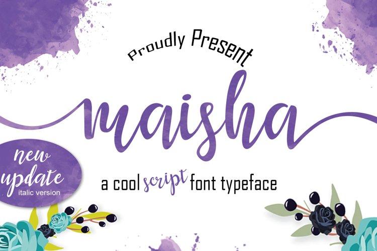Maisha Script | WEB FONT example image 1