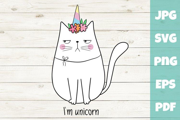 Unicorn svg - Cat SVG - I am unicorn example image 1