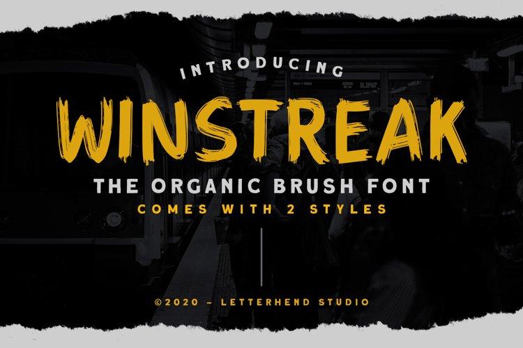 Winstreak - Brush Font example image 1