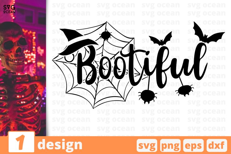 BOOTIFUL SVG CUT FILE | Halloween cricut | Spider web svg example image 1