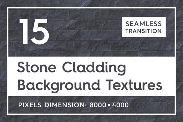 15 Seamless Stone Cladding Textures example image 1